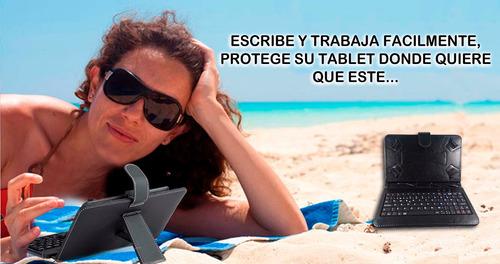 estuche protector funda con teclado para tablet 7 itelsistem