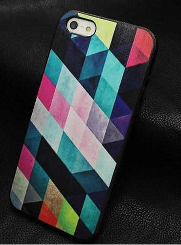 estuche protector funda para iphone 5/5s + film de vidrio