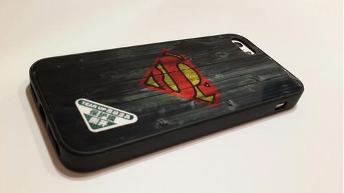 estuche protector iphone 5 5s 6 6s 6plus + mica de vidrio