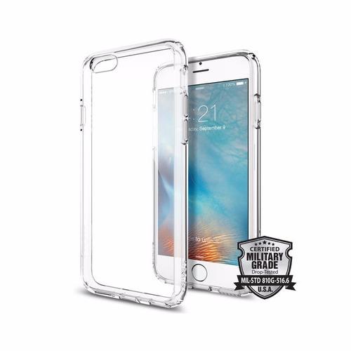estuche protector iphone 6 / 6s spigen ultra hybrid clear