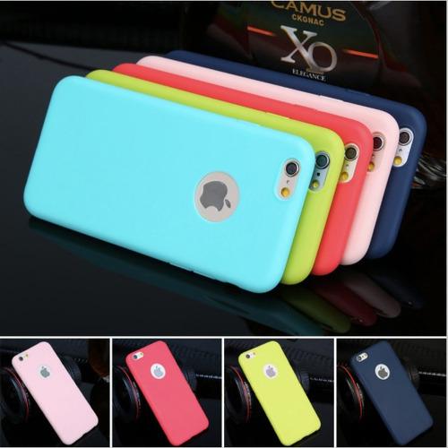 estuche protector iphone  6s plus 6s 5s 5se colores caramelo