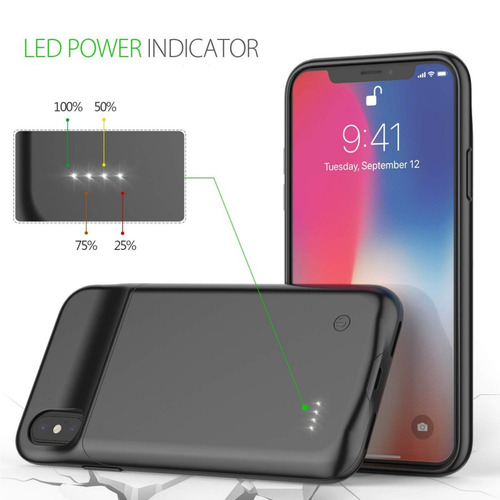 estuche protector iphone x xs batería incluída power bank ®