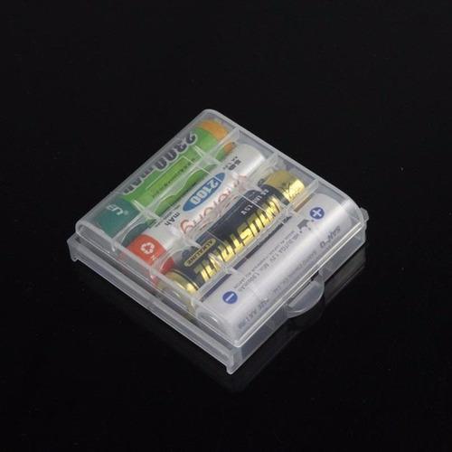 estuche protector para guardar pilas / baterias aa | aaa