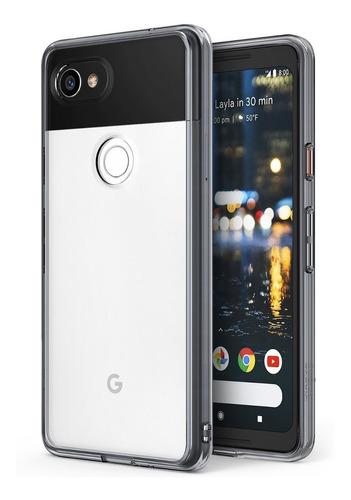 estuche protector ringke fusion google pixel 2 xl - transpar