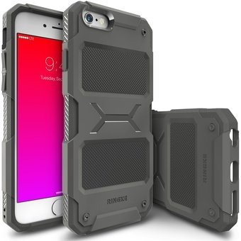 estuche protector ringke rebel iphone 6s - gris