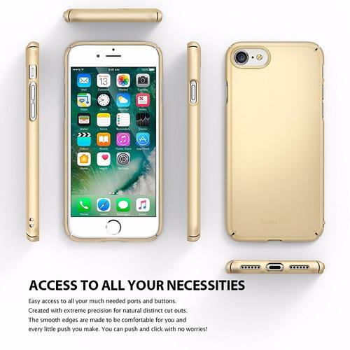 estuche protector ringke slim iphone 7 gold