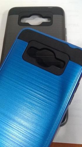 estuche protector samsung j2 prime negro y azul