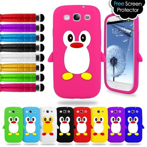 21c30e08024 Estuche Protector Silicona Galaxy S3 I9300+film Pant +stylus - S/ 55 ...