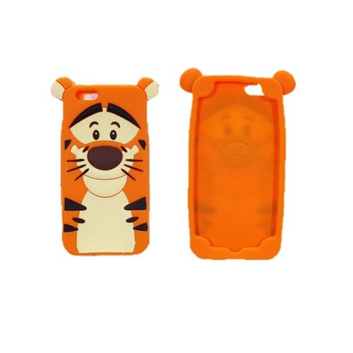 estuche protector silicona tiger orange apple iphone 6s