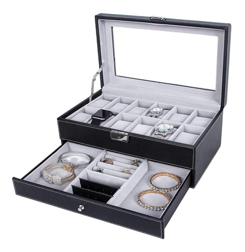 estuche relojes joyeria almacenar joyas caja env. rapido