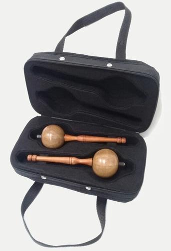 estuche rígido duro para maracas instrumento musical