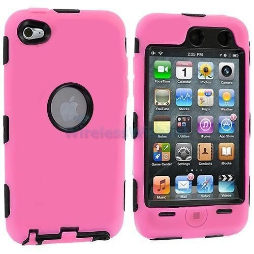 estuche rosado duro para ipod touch 4 4th gen
