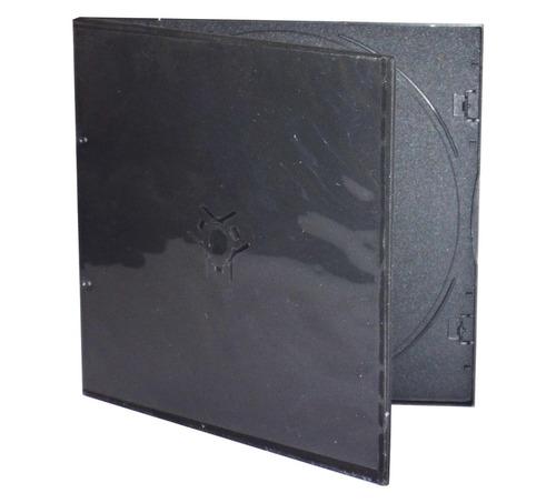 estuche slim para cd negro paquete de 100 unidades