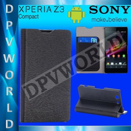 estuche sony xperia z3 compact d5803 d5833 tipo flip cover