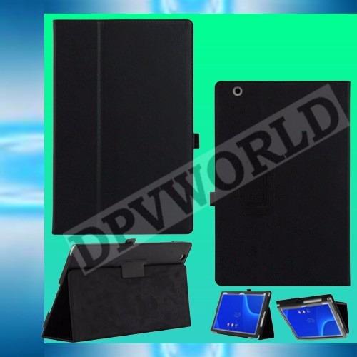 estuche sony xperia z4 10.1 tablet  tipo agenda de cuero