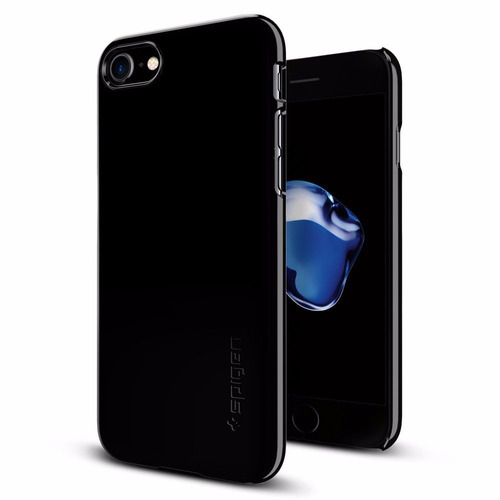 estuche spigen thin fit apple iphone 7 - jet black