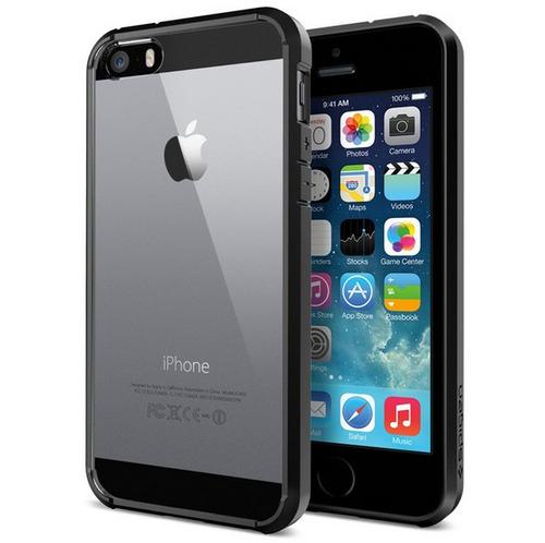 estuche spigen ultra híbrido lujo transparente iphone 5 5s