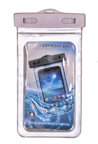 estuche sumergible celular agua reflectivo fluorescente 5.7