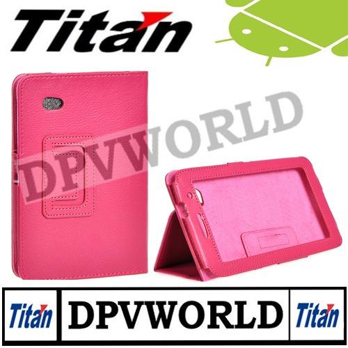 estuche  tablet titan pc 7.0 cuero agenda