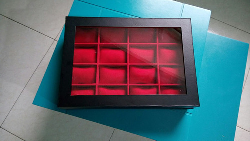 estuche tapa vidrio para 12 relojes