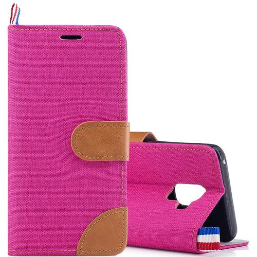 bd5459f477c Estuche Telefono Para Galaxy Funda Cuero Samsung A8 Magenta ...