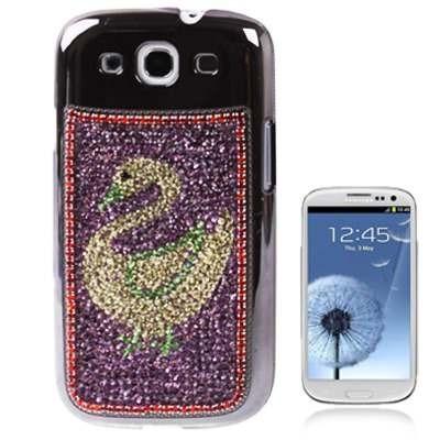 estuche telefono para galaxy ganso domestico diseño purpura
