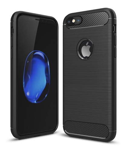 estuche textura carbon fiber protection iphone 7 / 8 plus