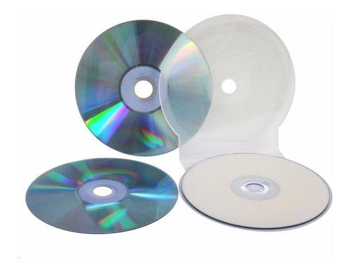 estuche tipo concha para cd, dvd, bluray x 25 unidades