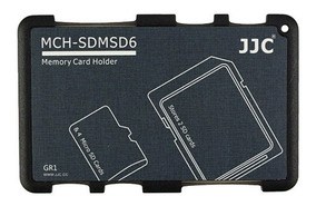 gris Tarjetas de memoria estuche para 2x SD /& 4x micro SD tarjeta de memoria de jjc