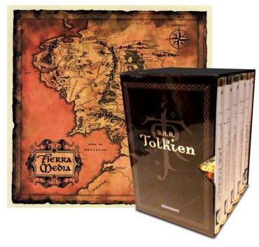 estuche tolkien 6 volumenes+mapa de la tierra media - j.r.r