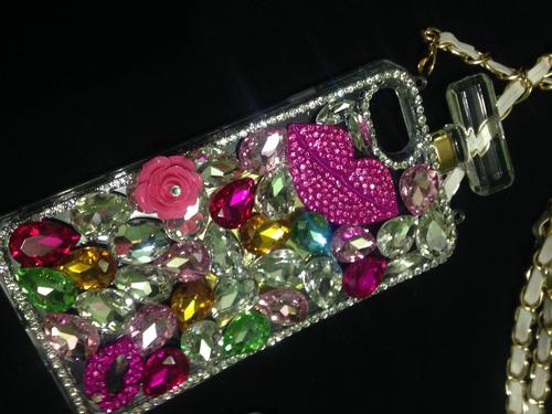 estuche tpu jelly case iphone 7 brillos perfume protector