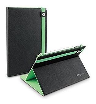 estuche universal para tablet 10¨ tipo folio en negro/verde