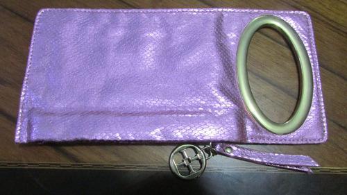 estuche- wallet iphone rosa
