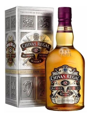 estuche whisky chivas regal 12 años scotch whisky  x750cc