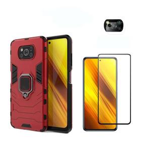 Estuche Xiaomi Pocophone X3 + Vidrio Templado + Prot Camara