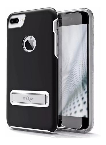 estuche  zizo elite metallic  iphone 7 / 8 plus con glass