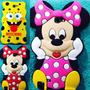 Estuche Case 3d Samsung Note 2 Minnie Mouse Bob Sponja