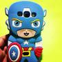 Case Spider Iron Man Capitán America S3 S4 Mini Iphone 4s 5c