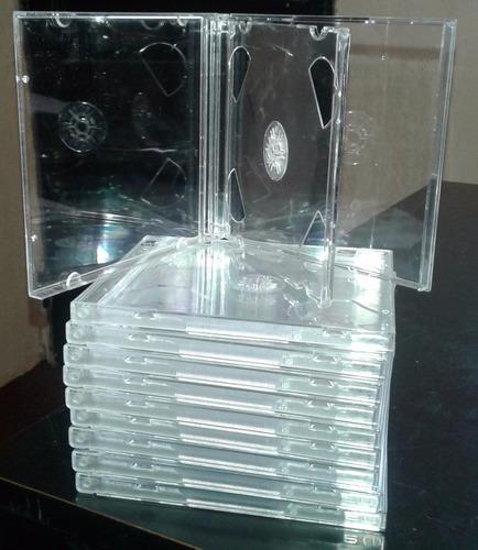 estuches de cds dobles x 25 primera calidad