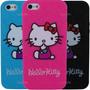 Estuche Iphone Se 5s-5 En Silicona Hello Kitty Funda Carcasa