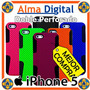 Forro Doble Perforado Iphone 5 Silicon Plastic Celular Apple