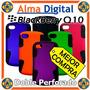 Forro Doble Perforado Blackberry Q10 Plastico Silicon Celula
