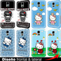 Estuche Carcasa Samsung Galaxy S5 S4 S3 Mini Hello Kitty S6