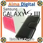 Estuche Cuero Samsung S3 Funda Forro Protector Tipo Libreta