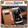 Estuche Cuero Samsung S6 Edge Galaxy Funda Forro Tipo Libret