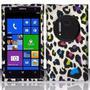 Estuche Rubberized Rainbow Leopar Para At&t Nokia Lumia 1020