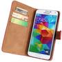 Forro Cuero Estuche Galaxy S2 S3 S4 S5 S6 S4 Active + Lamina