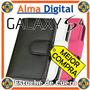 Estuche Cuero Samsung S4 Funda Forro Protector Libreta I9500