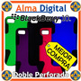 Forro Doble Perforado Blackberry Z10 Estuche Funda Carcasa