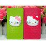 Estuche Hello Kitty En Cuero Iphone 5c Billetera Flip Cover